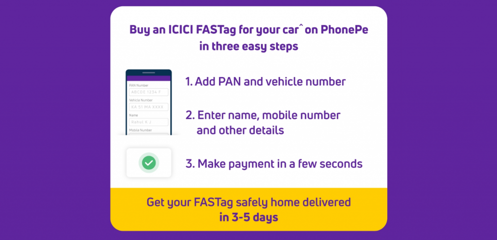 Buy FasTag ICICI bank